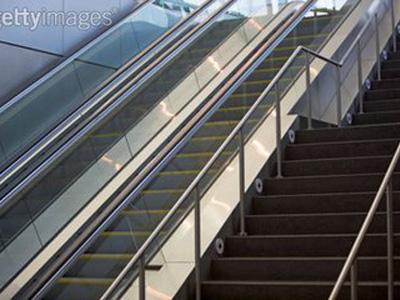 地鐵站自動扶梯